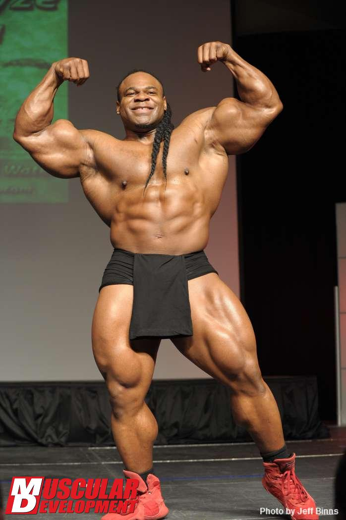 Kai Greene guest posing March 17, 2012 at the St Louis Pro