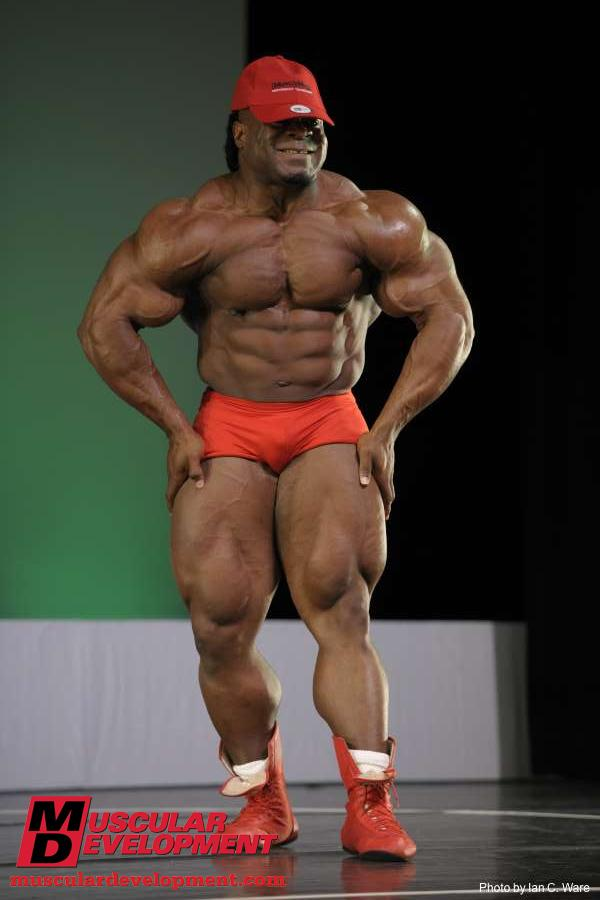 Kai Greene bodybuilder guest posing at NPC Jacksonville bodybuilding contest